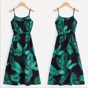 Tropical Printed Maxi Dress